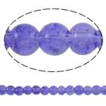 Glass Beads kërcitje, Xham, Round, asnjë, hyacinthine, 6mm, : 1mm, : 31.5Inç, 10Fillesat/Qese, approx161Pcs/Strand,  Qese