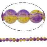 Glass Beads kërcitje, Xham, Round, asnjë, dy-ton, asnjë, 6mm, : 1mm, : 32.2Inç, 10Fillesat/Qese, approx161Pcs/Strand,  Qese
