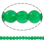 Knistern Glasperlen, Glas, rund, grün, 6-7.5mm, Bohrung:ca. 1mm, Länge:ca. 31.5 ZollInch, 10SträngeStrang/Tasche, verkauft von Tasche