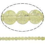 Glass Beads kërcitje, Xham, Round, asnjë, i verdhë, 6mm, : 1mm, : 31.5Inç, 10Fillesat/Qese, approx161Pcs/Strand,  Qese