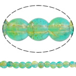 Glass Beads kërcitje, Xham, Round, asnjë, dy-ton, asnjë, 6mm, : 1mm, : 31.5Inç, 10Fillesat/Qese, approx161Pcs/Strand,  Qese