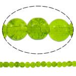 Glass Beads kërcitje, Xham, Round, asnjë, mollë jeshile, 8mm, : 1mm, : 31.5Inç, 10Fillesat/Qese, approx108Pcs/Strand,  Qese