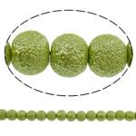 Stardust Glass Beads, Xham, Round, asnjë, mollë jeshile, 10mm, : 1mm, : 31.5Inç, 10Fillesat/Qese, approx83Pcs/Strand,  Qese