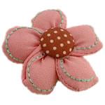 Leckë, Lule, asnjë, asnjë, rozë, 40x40mm, 60PC/Shumë,  Shumë