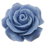 Rrëshirë Cabochon, Lule, asnjë, asnjë, blu, 30x30mm, 90PC/Shumë,  Shumë