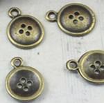 Pendants Zink Alloy, Alloy zink, Shape Tjera, Ngjyra antike bronz i praruar, asnjë, asnjë, , nikel çojë \x26amp; kadmium falas, 13x13mm, : 1mm, 300PC/Qese,  Qese