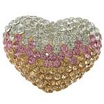 Varëse diamant i rremë, Argjilë, Zemër, asnjë, me diamant i rremë, asnjë, 36x27x21mm, PP19, : 2mm, 10PC/Qese,  Qese