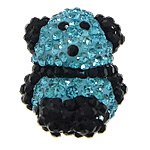 Diamant i rremë balta Beads hapë, Argjilë, Panda, asnjë, me diamant i rremë Çeke, asnjë, 16x20x14mm, : 2mm, 5PC/Qese,  Qese