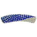 Diamant i rremë balta Beads hapë, Argjilë, with Tunxh, Tub, ngjyrë platin praruar, me diamant i rremë, asnjë, 45x13mm, : 4mm, 30PC/Qese,  Qese