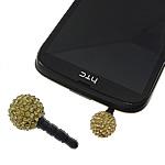 Pluhuri kufje Jack Cap priza, diamant i rremë Shtrim bead, with Plastik, Round, asnjë, asnjë, i verdhë, 12mm, 26mm, 50PC/Qese,  Qese