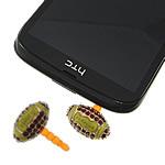 Pluhuri kufje Jack Cap priza, Alloy zink, with Plastik, Oval, ngjyra rose ari praruar, smalt & me diamant i rremë, asnjë, , nikel çojë \x26amp; kadmium falas, 20x12mm, 25mm, 20PC/Qese,  Qese