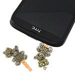 Pluhuri kufje Jack Cap priza, Alloy zink, with Plastik, Bear, ngjyrë platin praruar, me diamant i rremë, asnjë, , nikel çojë \x26amp; kadmium falas, 18x23x12mm, 34mm, 20PC/Qese,  Qese