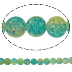 Glass Beads kërcitje, Xham, Round, asnjë, dy-ton, asnjë, 10mm, : 1mm, : 31.5Inç, 10Fillesat/Qese, approx83Pcs/Strand,  Qese