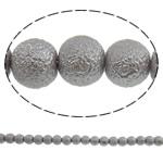 Stardust Glass Beads, Xham, Round, asnjë, gri, 10mm, : 1mm, : 31.5Inç, 10Fillesat/Qese, approx83Pcs/Strand,  Qese