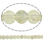 Glass Beads kërcitje, Xham, Round, asnjë, krem të verdhë, 6mm, : 1mm, : 31.5Inç, 10Fillesat/Qese, approx145Pcs/Strand,  Qese