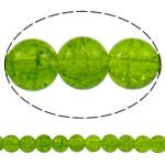 Glass Beads kërcitje, Xham, Round, asnjë, jeshile ulliri, 10mm, : 1.5mm, : 31.5Inç, 10Fillesat/Qese, approx83Pcs/Strand,  Qese