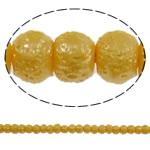 Stardust Glass Beads, Xham, Round, asnjë, të verdhë të artë, 5mm, : 1mm, : 31.5Inç, 10Fillesat/Qese, approx227Pcs/Strand,  Qese