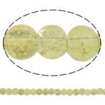 Glass Beads kërcitje, Xham, Round, asnjë, krem të verdhë, 5mm, : 1mm, : 31.5Inç, 10Fillesat/Qese, approx210Pcs/Strand,  Qese