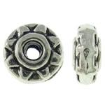 Beads bizhuteri Alloy zink, Rondelle, Ngjyra antike argjendi praruar, asnjë, asnjë, , nikel çojë \x26amp; kadmium falas, 5x2.5mm, : 1.5mm, 5000PC/KG,  KG