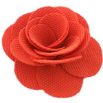 Leckë, Lule, asnjë, asnjë, koral kuqe, 50x50mm, 60PC/Shumë,  Shumë