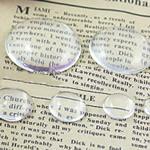 Cabochons Glass, Xham, Kube, asnjë, i tejdukshëm, qartë, 38x38x8.50mm, 80PC/Qese,  Qese