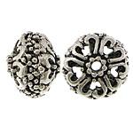 Beads aliazh zink Hollow, Alloy zink, Rondelle, Ngjyra antike argjendi praruar, i uritur, asnjë, , nikel çojë \x26amp; kadmium falas, 10x12mm, : 2mm, 200PC/Qese,  Qese