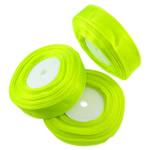 Organza Ribbon, asnjë, asnjë, jeshile fluoreshente, 25mm, : 250Oborr, 5PC/Qese,  Qese