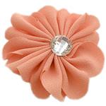 Leckë, with Rrëshirë diamant i rremë, Lule, asnjë, me rrëshirë diamant i rremë, kuq pak portokalli, 45x45mm, 100PC/Shumë,  Shumë