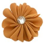 Leckë, with Rrëshirë diamant i rremë, Lule, asnjë, me rrëshirë diamant i rremë, toka verdhë, 45x45mm, 100PC/Shumë,  Shumë
