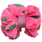 Leckë, with Saten Ribbon, Bowknot, asnjë, asnjë, rozë, 60x50mm, 80PC/Shumë,  Shumë