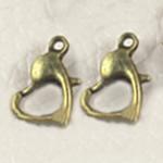 Zink Alloy kapje karavidhe, Alloy zink, Zemër, Ngjyra antike bronz i praruar, asnjë, asnjë, , nikel çojë \x26amp; kadmium falas, 10.50x800mm, : 2mm, 500PC/Qese,  Qese