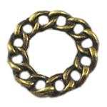 Alloy zink Lidhja Ring, Rolo, Ngjyra antike bronz i praruar, asnjë, asnjë, , nikel çojë \x26amp; kadmium falas, 20x20mm, 400PC/Qese,  Qese