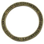 Alloy zink Lidhja Ring, Round, Ngjyra antike bronz i praruar, asnjë, asnjë, , nikel çojë \x26amp; kadmium falas, 20x20mm, 700PC/Qese,  Qese