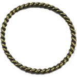 Alloy zink Lidhja Ring, Round, Ngjyra antike bronz i praruar, asnjë, asnjë, , nikel çojë \x26amp; kadmium falas, 30x30mm, 300PC/Qese,  Qese