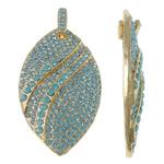Pendants Zink Alloy, Alloy zink, Syri kali, ngjyrë ari praruar, me diamant i rremë, dritë blu, , nikel çojë \x26amp; kadmium falas, 37.50x62.50x7.50mm, : 4x9mm, 10PC/Qese,  Qese