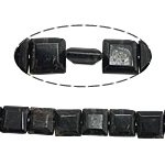 Kohle Quarzstein, Quadrat, facettierte, 12x12x5mm, Bohrung:ca. 1mm, ca. 33PCs/Strang, verkauft per ca. 15.5 ZollInch Strang