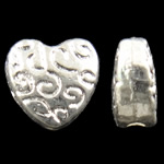 Beads Zink Alloy Zemra, Alloy zink, Zemër, Ngjyra argjend praruar, asnjë, asnjë, , nikel çojë \x26amp; kadmium falas, 6x6x3mm, : 1mm, 2500PC/KG,  KG