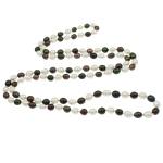 Natyrore ujërave të ëmbla Pearl gjerdan, Pearl kulturuar ujërave të ëmbla, Oriz, i lyer, asnjë, asnjë, 9-10mm, :47Inç,  47Inç,
