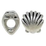Beads European aliazh zink, Alloy zink, Predhë, Ngjyra antike argjendi praruar, pa karrem, asnjë, , nikel çojë \x26amp; kadmium falas, 11x12x9mm, : 4.5mm, 10PC/Qese,  Qese