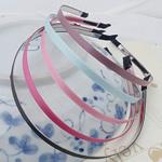 Hair Bands, Saten Ribbon, with Stainless Steel, asnjë, asnjë, ngjyra të përziera, 120x5mm, 50PC/Shumë,  Shumë