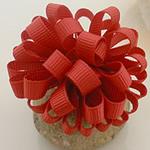 Saten Ribbon, asnjë, asnjë, i kuq, 50x50mm, 40PC/Shumë,  Shumë