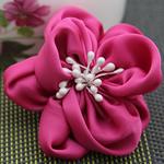 Saten Ribbon, with Plastike Pearl, asnjë, asnjë, i kuq, 68x68mm, 40PC/Shumë,  Shumë