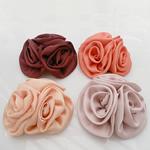 Mëndafsh, Lule, asnjë, asnjë, ngjyra të përziera, 90x90mm, 30PC/Shumë,  Shumë