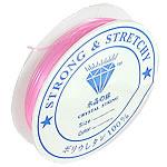 Thread Crystal, elastik, asnjë, rozë, 0.80mm, :8m, 100PC/Shumë,  Shumë