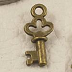 Alloy zink Pendants kyçe, Ngjyra antike bronz i praruar, asnjë, asnjë, , nikel çojë \x26amp; kadmium falas, 17x7.50mm, : 2mm, 1000PC/Qese,  Qese