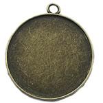 Zink Alloy varëse Setting, Alloy zink, Monedhë, Ngjyra antike bronz i praruar, asnjë, asnjë, , nikel çojë \x26amp; kadmium falas, 32x32mm, : 2mm, : 30mm, 100PC/Qese,  Qese