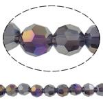 Beads Round Crystal, Kristal, Ngjyra AB kromuar, faceted & imitim kristal Swarovski, asnjë, 6mm, : 1mm, : 21.6Inç, 10Fillesat/Qese, approx100Pcs/Strand,  Qese