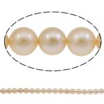 Round Beads kulturuar Pearl ujërave të ëmbla, Pearl kulturuar ujërave të ëmbla, natyror, asnjë, rozë, AAA, 11-12mm, : 1mm, :15.7Inç,  15.7Inç,