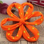 Leckë, Lule, asnjë, me model të rrumbullakët spot, portokalli thellë kuqalashe, 110x110mm, 30PC/Shumë,  Shumë