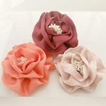 Saten Ribbon, with Plastike Pearl, asnjë, asnjë, ngjyra të përziera, 100x100mm, 24PC/Shumë,  Shumë